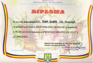 Diploma Politie Team Guard