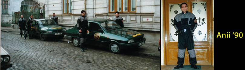 Echipajele firmei de paza Team Guard in anii '90